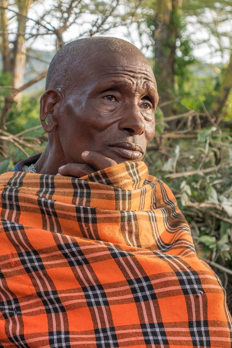 An elder in the community at Maji Moto helping to support women and stop FGM within the Maasai.